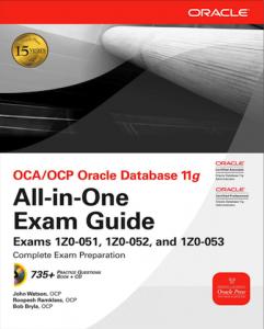 Подготовка к экзаменам Oracle OCA/OCP DBA 11g