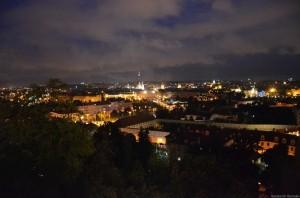 чудесный вид на ночную Прагу