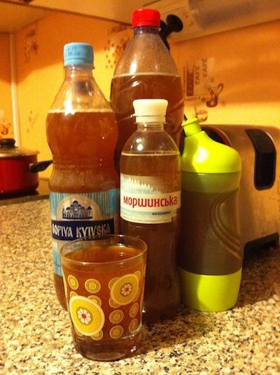 Квас по бутылкам