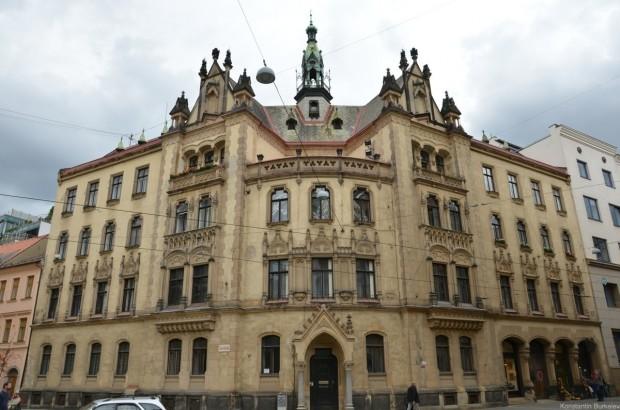Красивое здание в Брно
