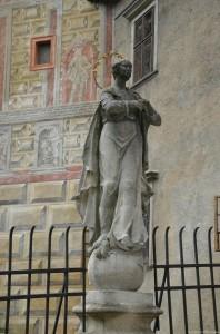 Дева Мария на мосту в Замок Чешский Крумлов